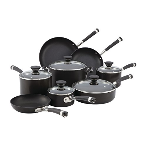 Circulon Acclaim Hard-Anodized Nonstick Cookware Set, 13-pc - Black ()