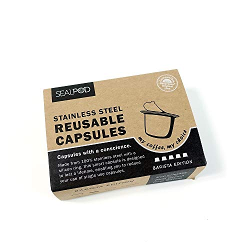 Reusable Nespresso Capsules - Sealpod Stainless Steel Refillable Pods for Nespresso Machines (5 Pods, 100 Lids) by Sealpod (Image #7)