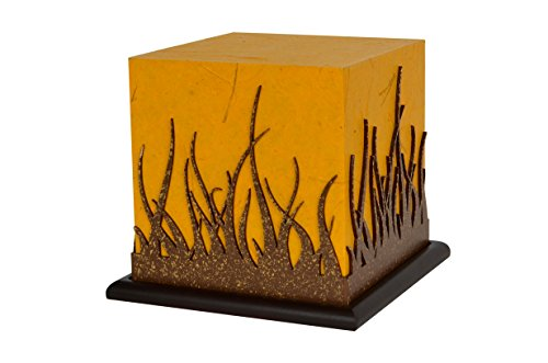 Forest Contemporary Table Lamp - Shady Ideas Forest Fire Small Table LED Table Lamp (Bulb Included) - Golden Yellow