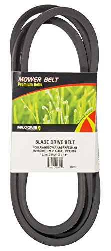 Mower Replace Belt (Maxpower 336317 Blade Drive Belt Replaces Poulan/Husqvarna/Craftsman/Cub Cadet 174883, 532174883, 531300767, 754-3051A, 9543051A)