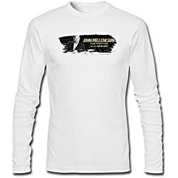 YLINTS Men's John Mellencamp Plain Spoken Tour 2016 Long Sleeve T-shirt Size S White