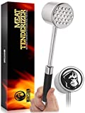 Meat Mallet Tool For Kitchen & BBQ - Meat Hammer - Meat Tenderizer - Sturdy Stainless Steel Steak Pounder For Beef Veal & Chicken - Dishwasher Safe Easy Clean Meat Beater - No More Chewy Meats