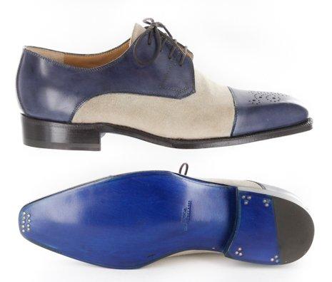Nuevo Sutor Mantellassi Blue Zapatos 7.5 / 6.5