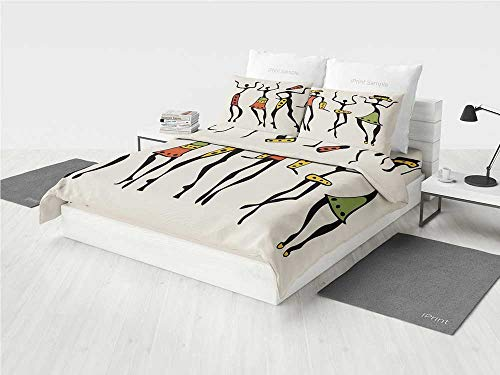 Afro Decor 8pc Bedding Set Queen African Group