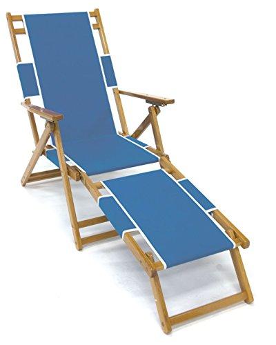Frankford Umbrella (Frankford Oak Beach Chair with Detachable Legrest - Capri)