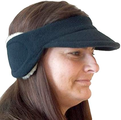 Black Intrepid International Polartec Fleece Ear Warmers with Visor