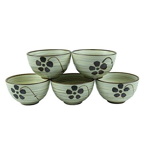 Set of 5, Handcrafted Ceramic Pottery Porcelain Traditional Sake Serving Cup Set Glazed Wine Cold/Hot Sake - Porcelain Glazed Handcrafted