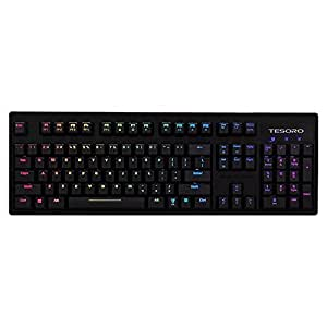 Tesoro Excalibur Spectrum G7SFL Brown Mechanical Switch Single Individual Per Key Full Color RGB LED Backlit Illuminated Mechanical Gaming Keyboard TS-G7SFL (BW)