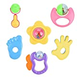 Baby Rattles Shake Grap Baby Hand Development Early Educational Toys Musical Sounds Play Gift Set for Newborn Babies Kids 6pcs/Set