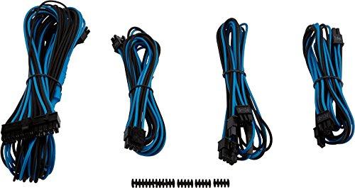 Kit de Cabos Sleeved, Corsair, Cabos Sleeved, Outros Componentes, Azul/Preto