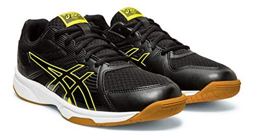 ASICS Upcourt 3 Men's Volleyball Shoes, Black/Sour Yuzu, 12 M US