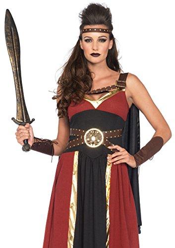 Amazon Warrior Halloween Costume (Leg Avenue Women's 3 Piece Regal Warrior Costume, Multi, Large)