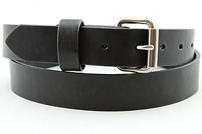 Heavy Duty Black Men's Leather Belt Full Grain Custom Work Hand Made USA 1.25 and 1.5 Inch