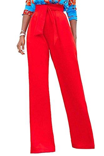Cinturones Cintura Mujer Rojo Casual Pantalones De Completa Longitud Alta  Zojuyozio Largos Moda 1Tgwq cc4c1e0d57cc