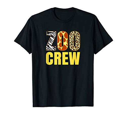 Zoo Crew Animal Print for Kids or Adults Zoo Group T-Shirt ()
