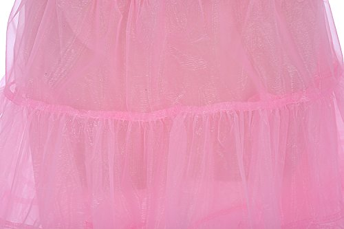Rockabilly Pink Gonne Donna Vintage 50s Bbonlinedress Mini Organza Sottogonna 4WxTwqWnCa