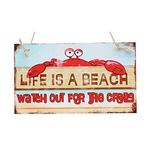 XG Life Is A Beach, Cartel Decorativo de Madera Pintado a ...