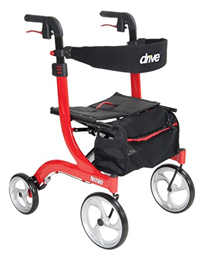 Drive Medical Nitro Euro Style Red Rollator Walker  Red