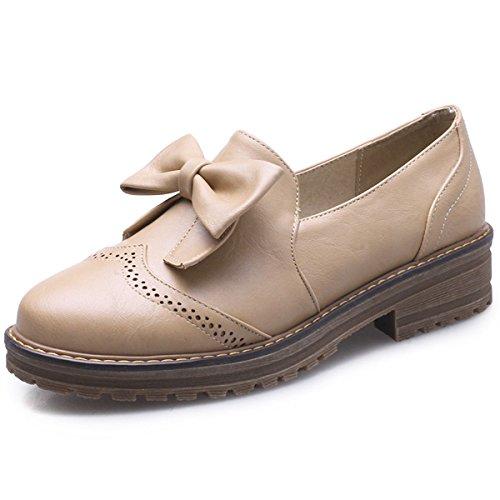 Work Heel School Low Loafers Women s Slip On Shoes Decostain Comfort  Brogues Bow Flats Tie Dress 7Fq4zPBz 573f8310ee4