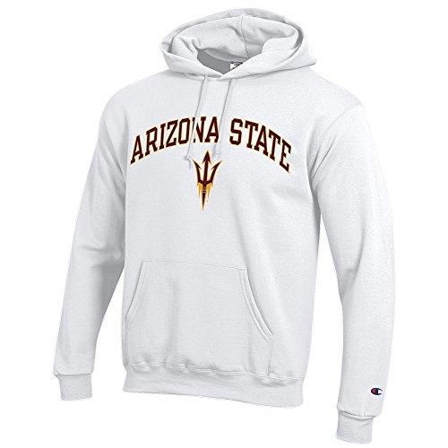 (Elite Fan Shop Arizona State Sun Devils Hooded Sweatshirt Varsity White - XXL)