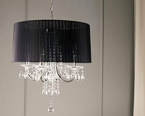 OK-5111h 15-Inch Crystal Drop Chandelier