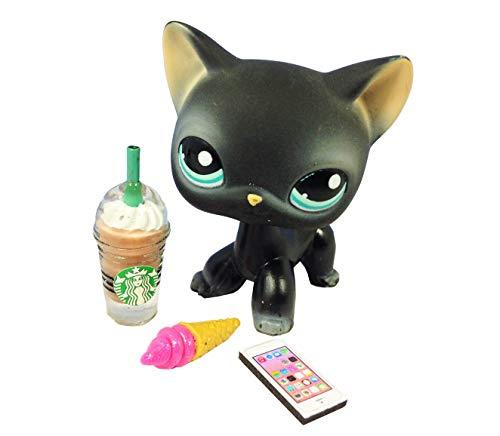 happyblockbuilder Littlest Pet Shop LPS LOT 3 Custom Accessories Starbucks Food Phone; Pet NOT Included -