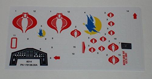 Gi Joe Decals (GI Joe Cobra Night Raven Sticker Sheet)