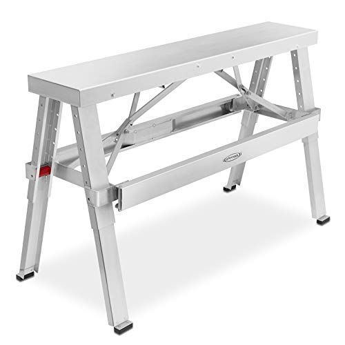 GypTool Adjustable Height Drywall Taping & Finishing Walk-Up Bench: 18 in. - 30 in.