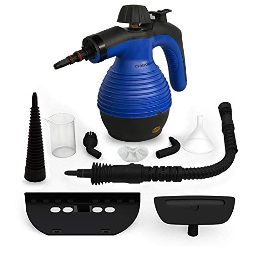Comforday Steamer- Steamer Multi Purpose Carpet High Pressure Chemical Free Steamer with 9-Piece Accessories, Perfect for Stain Removal, Curtains, Car Seats,Floor,Window Cleaning(Upgrade) (Blue)