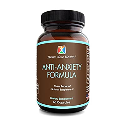 Thrive Now Health Anti-Anxiety Formula w/ Biotin (60 Veggie Capsules) Natural Stress Relief Supplement | Vitamins B1, B2, B6 | Promote Relaxation, Improved Sleep & Mood