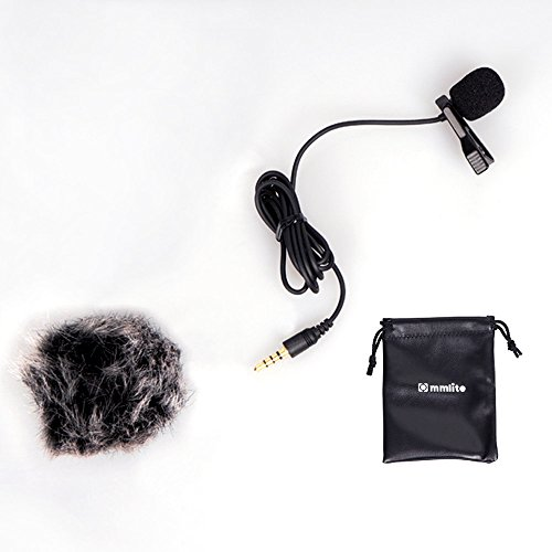(Commlite Lavalier Microphone Clip-on Omni-directional Condenser Mic for Smartphones)