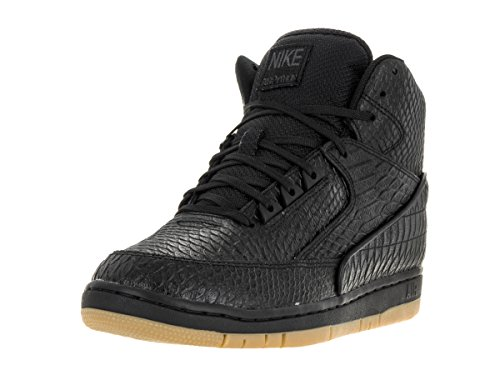 Nike Mens Air Python Prm Black/Gum Light Brown Basketball Shoe 8 Men US 705066-001_8