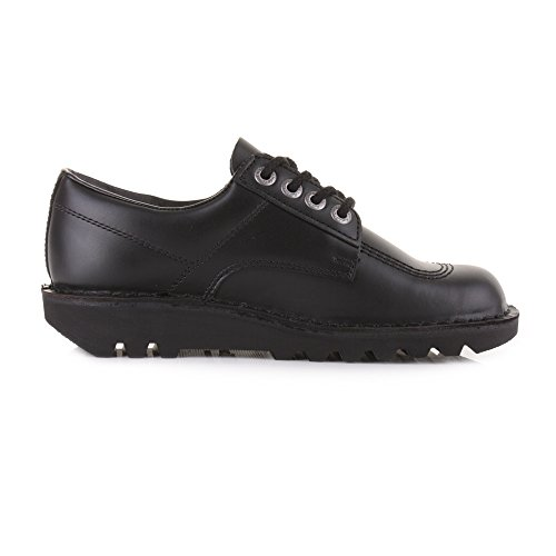 Kickers Kick Lo schwarz Herren Leder Schuhe Lace Up Smart