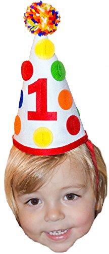 First Birthday Hat (1st First Birthday Baby Boy Colorful Pom Pom Party Hat Girl Cake Smash Party)