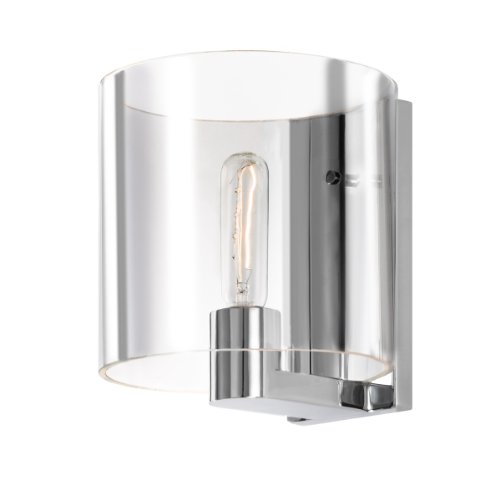 Sonneman Chrome Sconce (Sonneman 3690-01C One Light Sconce, Pool Nickel)