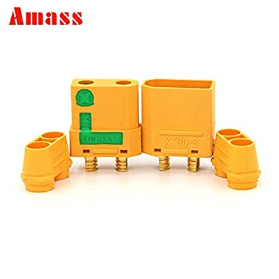 1 Pair AMASS XT90-S Anti Spark Male&Female Connector Plug + housing for RC Li-poly Battery ESC, and Charge Lead