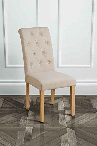 My Furniture Sedia Genoa Beige Imbottita per Tavolo da