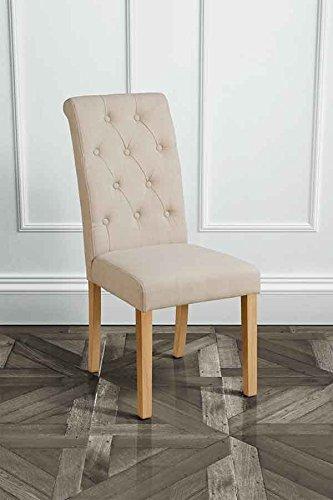 MY-Furniture Sedia GENOA BEIGE imbottita per tavolo da pranzo con ...