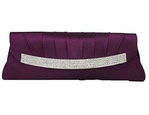 Boda De La Tarde De La Moda Cóctel Formal Del Embrague Del Monedero Del Bolso De Mano Purple