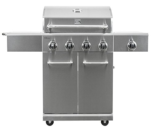 (Kenmore  PG-40405S0LA Stainless Steel 4 Burner Outdoor Patio Gas BBQ Propane Grill With Side Burner in , Stainless Steel)