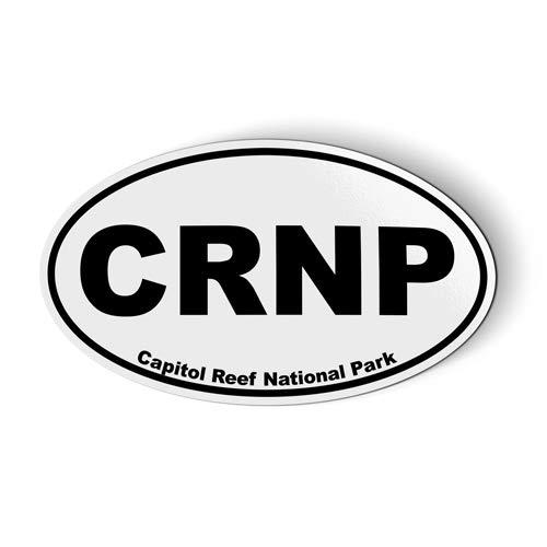 CRNP Capitol Reef National Park Oval - Magnet for Car Fridge Locker - 3