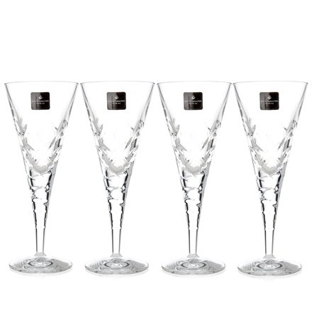 Royal Doulton Crystal Glasses, Set of 4 Goblets 260 Ml. (Central Park Collection)