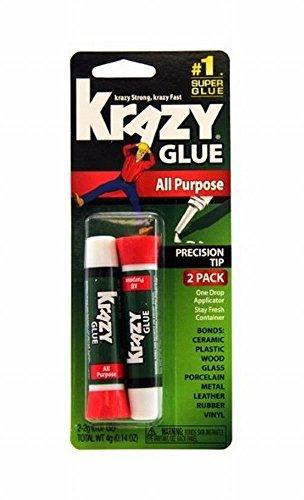 Krazy Glue KG517 12 Pack All Purpose Krazy Glue - 2.2 Gram (Pack of 2 Piece)
