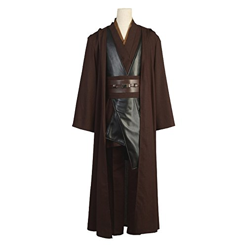 Beautyshop Star Wars Jedi Robe Costume Hooded Robe Cloak Obi-Wan Cosplay The Force Awakens Old Luke Skywalker Coat Halloween Outfit (Anakin Skywalker Robe)