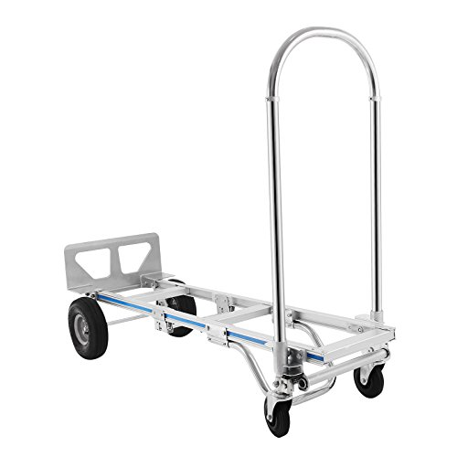 Popsport-2-in-1-Aluminum-Hand-Truck-770-Lbs-Capacity-Folding-Aluminum-Alloy-Cart-Dolly-Utility-Cart-Heavy-Duty-with-Flat-Free-Wheels