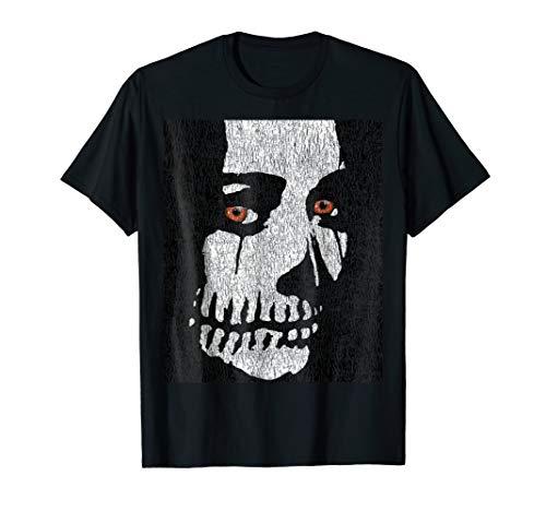 Skeleton Face Orange eyes, Halloween 2018 T-Shirt