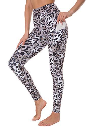 G Gradual Leopard Print Leggings for Women High Waist Tummy Control Compression Sport Leggings Yoga Leggings with Pockets (Leopard_1, XX-Larg) -