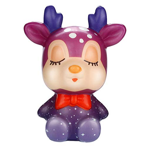 (Lyperkin Stress Relief Toys, Squishies Kawaii Christmas Deer Slow Rising Cream Scented Stress Relief Toys Slow Rising Decompression Kid Toy for Autism, ADHD, Bad Habits & More)