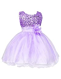 XWDA Baby Girls' Flower Sequins Tulle Dress