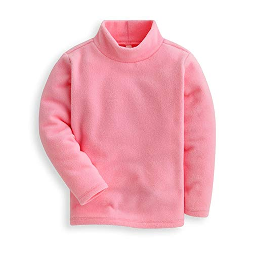 Mud Kingdom Girls Shirts Fleece Turtleneck Base Tops Plain 5 ()